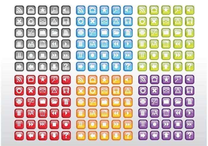 zoom Text size symbols star RSS risk printer navigation magnifying glass house home folders feeds desktop Data clip art computer browser