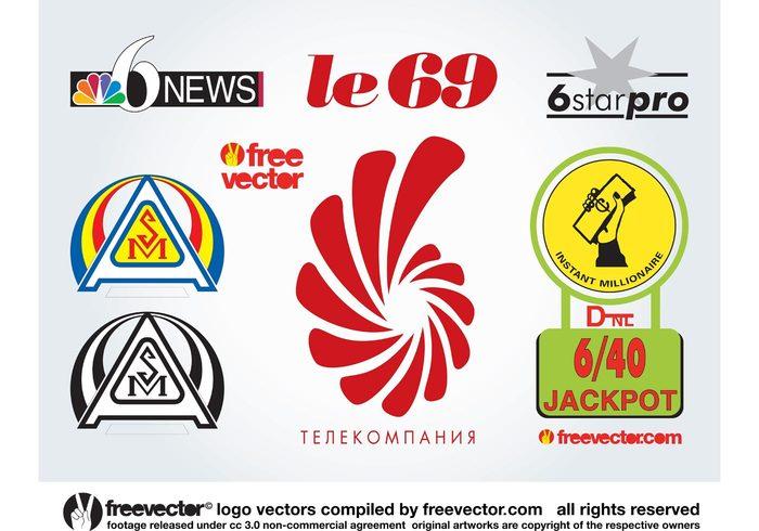 Visual id Vector inspiration Star pro Six Logo graphics Logo freebies logo design Le 69 Instant millionaire business cards 69 6 star 6 news 6