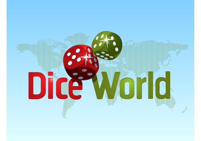 world symbols risk Odds map games gambling entertainment dice design craps continents Chance casino