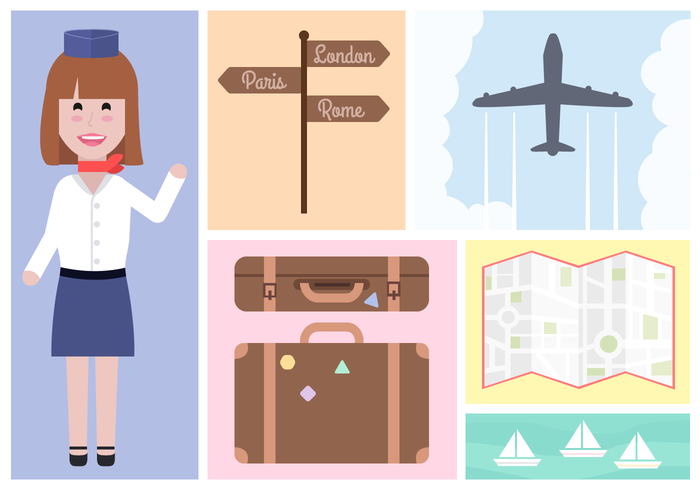 world Water sport vacation trip traveling travel suitcase plane map luggage holiday flight attendant flight Explore directions city baggage airport