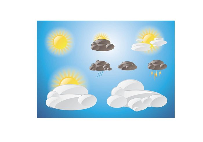 weather temperature symbol sunny sun storm sky season rainy rain Meteorology forecast element drop design day cold cloudy cloud climate