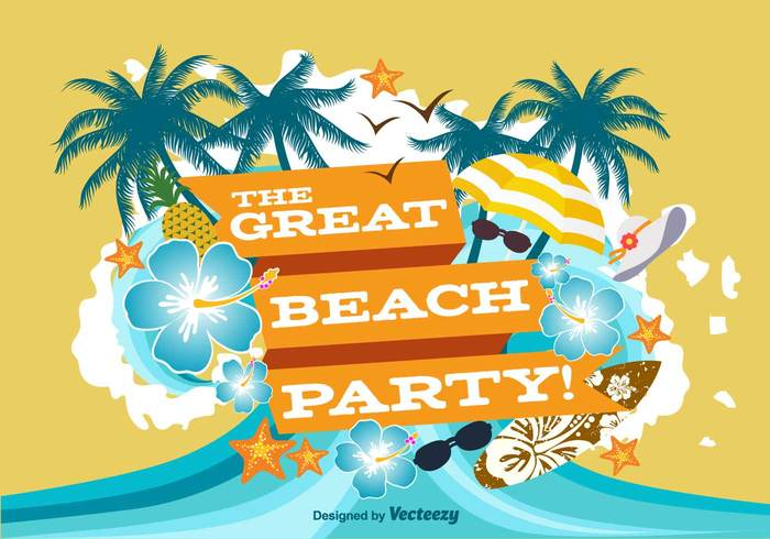 wave vintage vacation tropical tree travel tourism text template summer sky sea retro resort poster postcard party paradise palm ocean nature lifestyle landscape holiday happy grunge element Destination cocktail beach banner