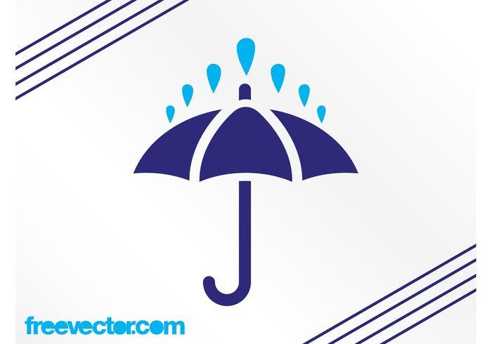 weather umbrella symbol raining raindrops raindrop rain icon forecast drops climate