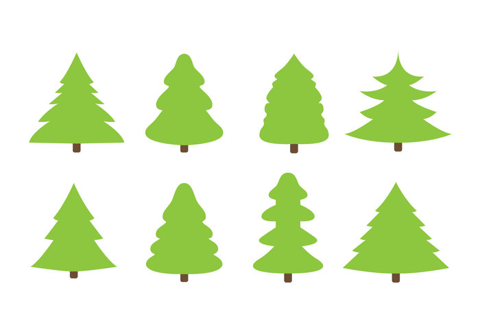 Christmas tree outline vector gift
