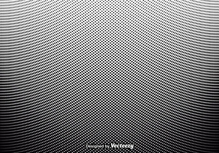 Tone shape round retro halftone graphic Gradation geometric effect draw dotted dot circle black backdrop abstract