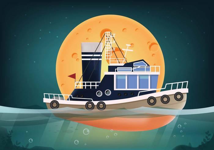 tugboat tug shipping ship seascape sea ocean maritime marine harbor fish cargo boat background anchor 3d