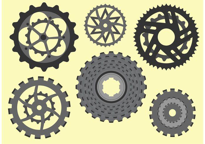 stacked sprocket shapes Patterns layered grayscale gradients gears gear circular bikes bike sprocket bike gear bike bicycle