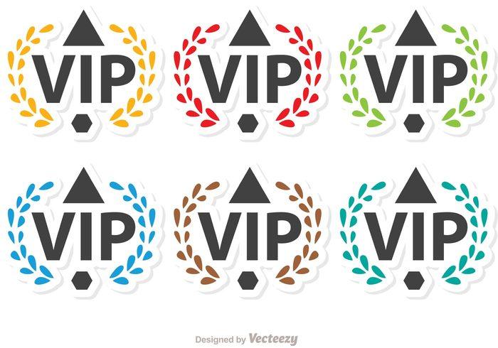 vip icon vip success rich Membership member medal luxury laurel VIP laurel badge laurel important icon glamour glamorous exclusive celebrity casino