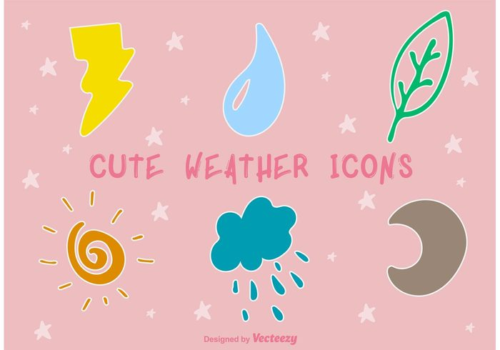 weather temperature symbol sunny sun summer storm snow sky sketch season rain night moon Meteorology lightning kids kid icon doddle cute cold cloudy cloud child cartoon