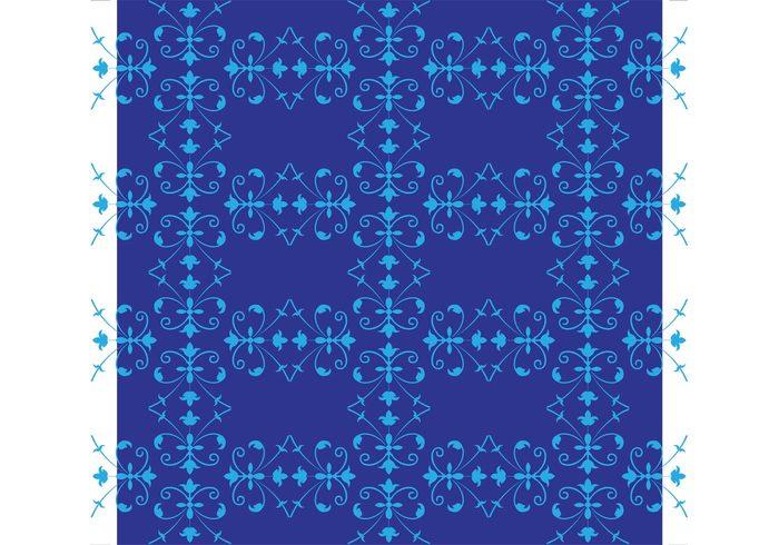 wallpaper vector pattern tile romantic Repetitive Repetition plants petals nature flowers Design footage cyan blue backdrop