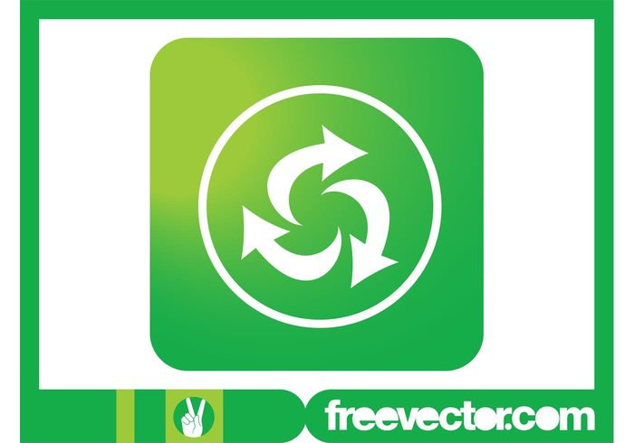 square round reload refresh recycling symbol recycling recycle pointers nature icon ecology eco circle arrows