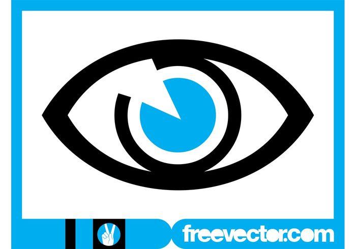 watch Vision stylized sight sense see logo template logo Iris icon Eyesight eye