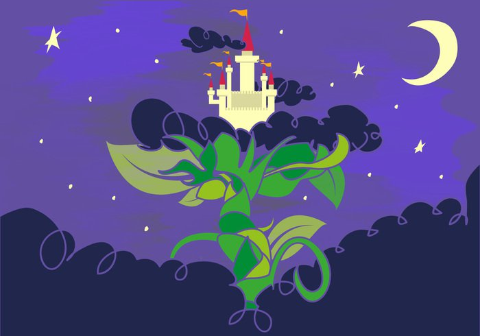 vector tall tale story stalk sky plant Nightmare nature mother money Mission magical magic Literature leaf kid jack illustration hero harp growth green Goose golden gold Giant Fortune food field farm fantasy fairytale fairy tale fairy egg earth cut crops cow coin cloud climb chopping castle cartoon beanstalk bean background axe Adventure