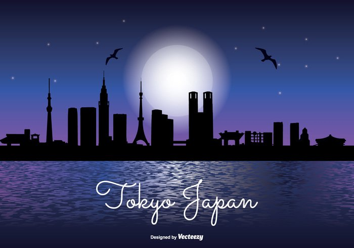 waterfront water travel tower tokyo skyline tokyo night tokyo japan Tokyo tall sunset skyline sky silhouette shoreline reflection office night time night modern Metropolis landmark lake japan high front downtown Destination dark corporate coast cityscape city skyline city silhouette city business building blue beautiful Backgrounds asia architecture