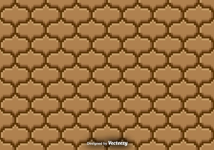 wall vector tiled tile textured texture Surface stone set seamless sandy sand rock pixel pattern old Nostalgic material ground game cement brown brick
