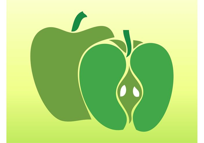 vitamins sticker silhouettes seeds nature logo Healthy fruits food eat Diet decal apples Apple vectors apple icons apple