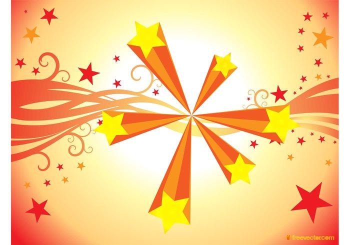 swirls sunburst shiny shine shape modern imagination holiday Fireworks explosion concept burst abstract