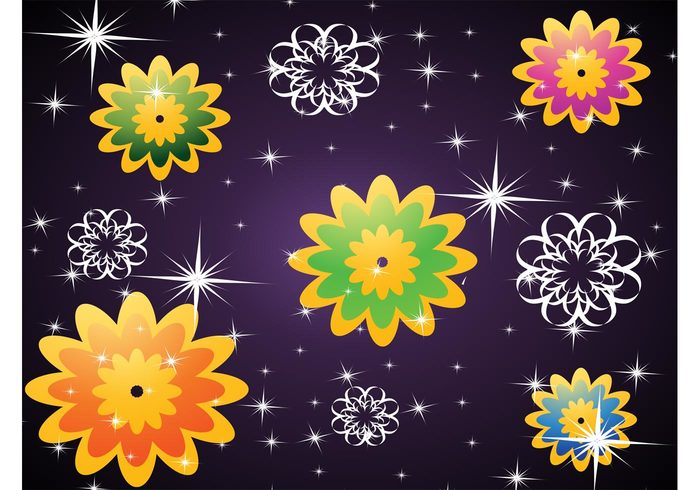 vector background swirl stars sparkle shine red purple plants nature green free backgrounds flowers floral