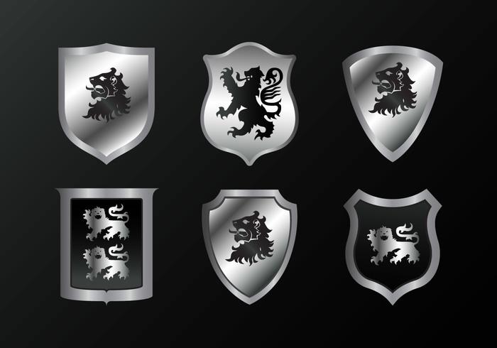 symbol silver silhouette sign shield set rampant lion rampant lion iron heraldry heraldic England emblem collection black