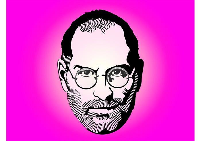 technology Steve Jobs portrait macintosh mac jobs iPod iMac illustration face executive computers Ceo apple