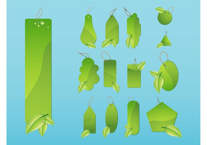 www web water templates tags Stings shiny shapes promotion plants internet green ecology droplets branding badges