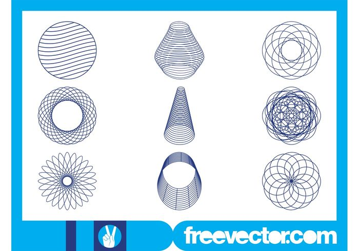 wireframes wireframe round lines linear line Geometry geometric shapes geometric cone circles circle abstract 3d