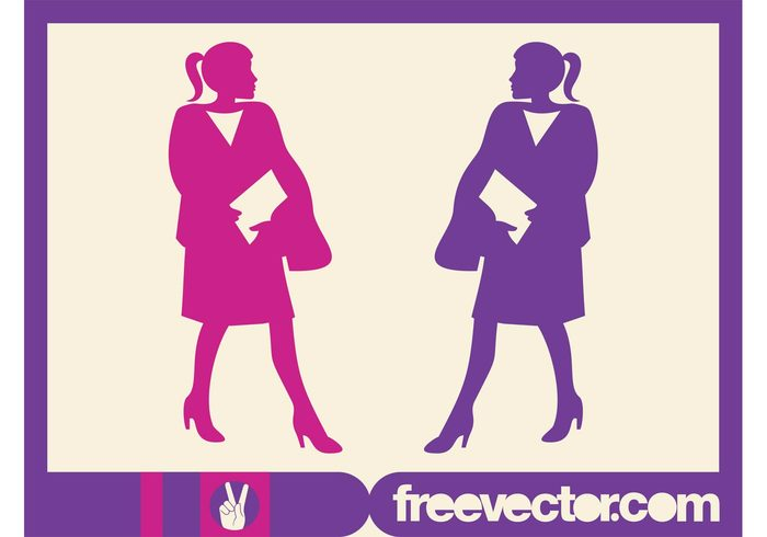 work women woman silhouettes profession Job corporate Career businesswomen businesswoman business
