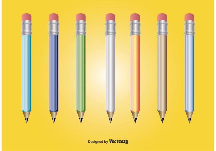yellow pencil writing vector pencils vector symbol purple pencil pencils pencil vector pencil icon pencil office object isolated illustration icons icon green pencil element education design creativity blue pencil