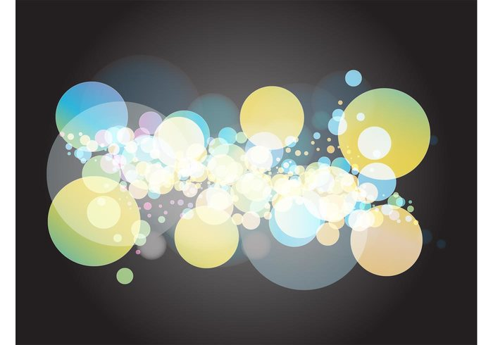 transparent translucent round layout hazy geometric shapes dots Decorative element Composition circles bubble abstract
