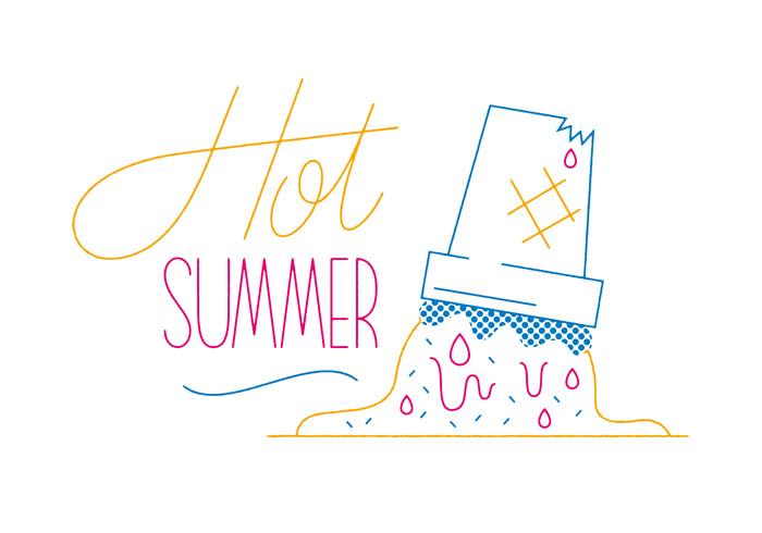sweet sun summer icecream ice hot holiday graphic cone chocolate beach