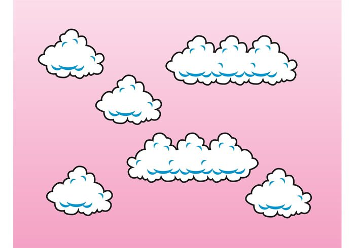 weather sky simple rainy game fluffy drops cute comic clouds Cloud vectors climate book