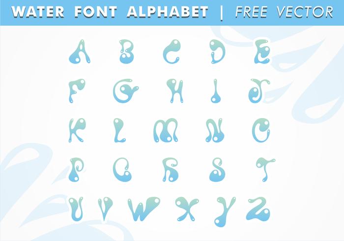 Water Text Art Font Vector Drop Alphabet Splash