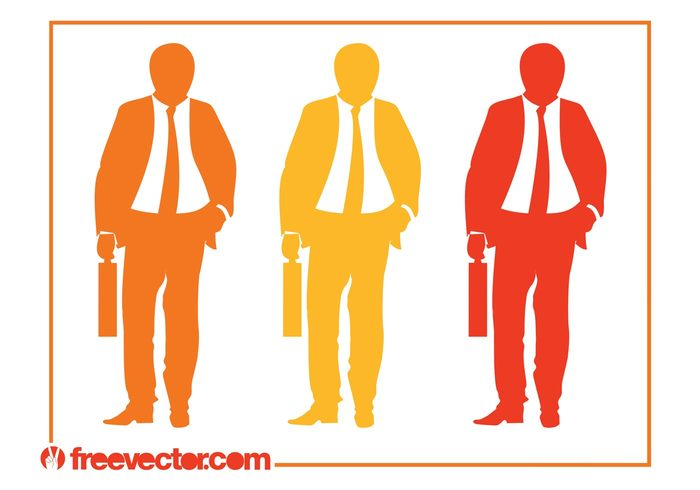 work ties suits silhouettes Job corporate Career businessmen businessman business briefcase