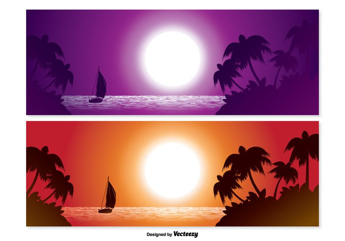 water warm view vacations tropical scene tropical climate tropical travel summer sky silhouettes Silent Serene sea scene romantic Reflections plants palm trees Pacific outdoors Outdoor oceans nature landscapes landscape islands horizontal holiday hawaii exotic Copy-space Coastline coast Caribbean blue beautiful beaches beach scene banners banner set banner Backgrounds