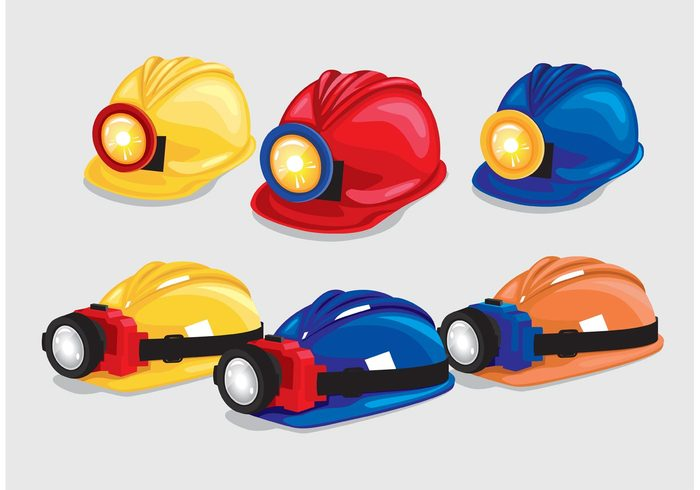 worker work safety Safe protective protection protect professional isolated industry industrial helmet with light helmet head hat hard hat equipment Engineer employee danger construction helmet construction hat construction cap builder Architect