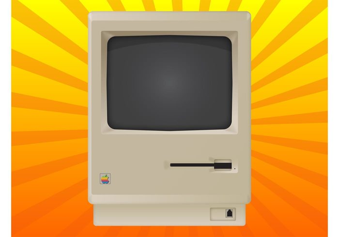 technology Steve Jobs retro Personal computer old macintosh mac os eighties computer apple antique 1984 128k