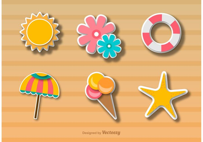 vacation umbrella tropical icon tropical travel tourism sun summer icon summer stickers sticker star season sea ocean icecream ice cream holiday flowers flower colorful beach umbrella beach icon beach