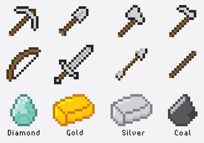 Minecraft items welovesolo world web vector treasure tiles textured template stylish stone starter ruby resource puddle precious minecraft mine stopboris Gallery