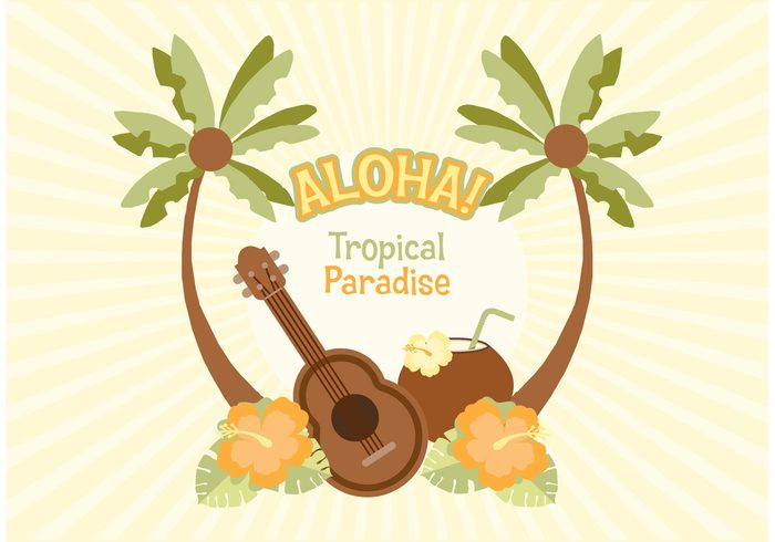 wood vector vacation ukulele tropical travel template summer sticker poster postcard polynesian flower party palm tree nightlife music leisure leaf illustration hot holiday hibiscus heat Hawaiian hawaii guitar hawaii guitar fun flower floral element disco design coconut clubbing card board beach party background aloha abstract