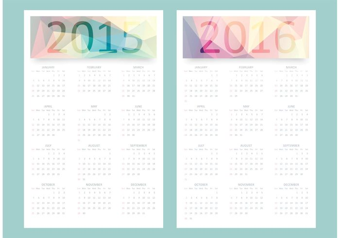 year white week wednesday vector tuesday time template sunday September Saturday polygonal planning pastel organizer office October November month monday May March june July January geometric ecology December day date colored clean chronological calendar 2016 calendar 2015 calendar August April 2016 2015
