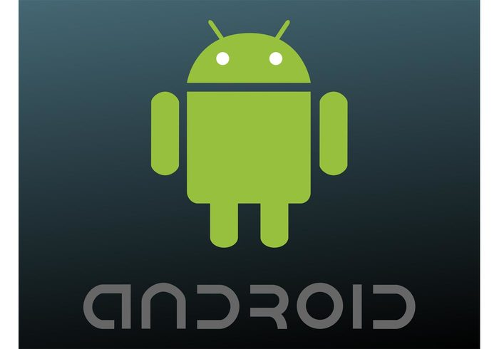text technology tech symbol smartphones robot platform phone os operating system mobile google brand Android vector alien