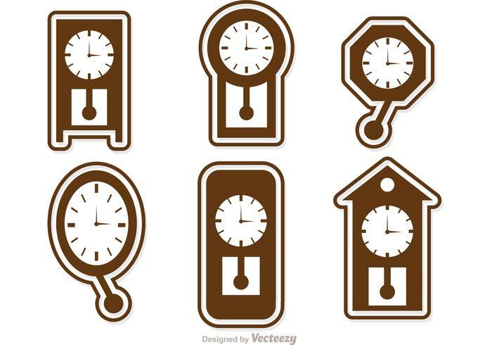 wall clock vintage clock time seconds minute instrument of time hour element desktop clock Deadline cookoo clock clock icon clock face clock antique clock alarm 24h 24