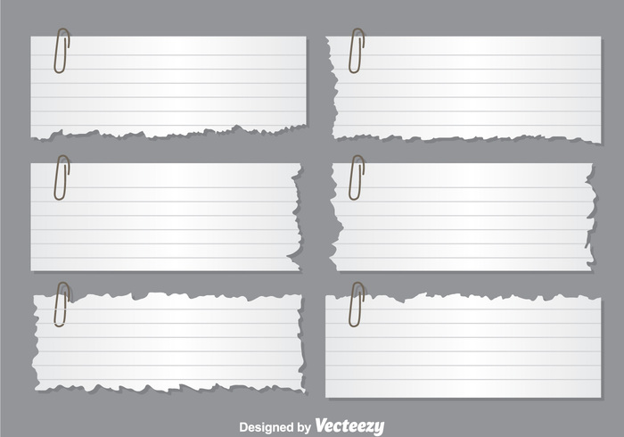 white torn sticky stationery shape ripped papers ripped paper banner ripped paper ripped paper page notepad note memo lline clip book