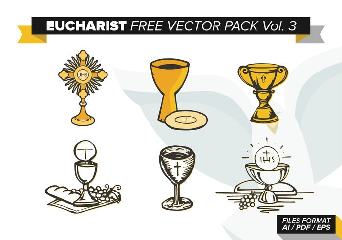 yellow wine wheat vector symbol supper shape Sacred sacrament religious Mass lord last jesus illustration icon host holy graphic grapes god first Eucharist decoration cup cross cristi corpus communion color church christian Christ chalice catholic bread body blue blood bible background