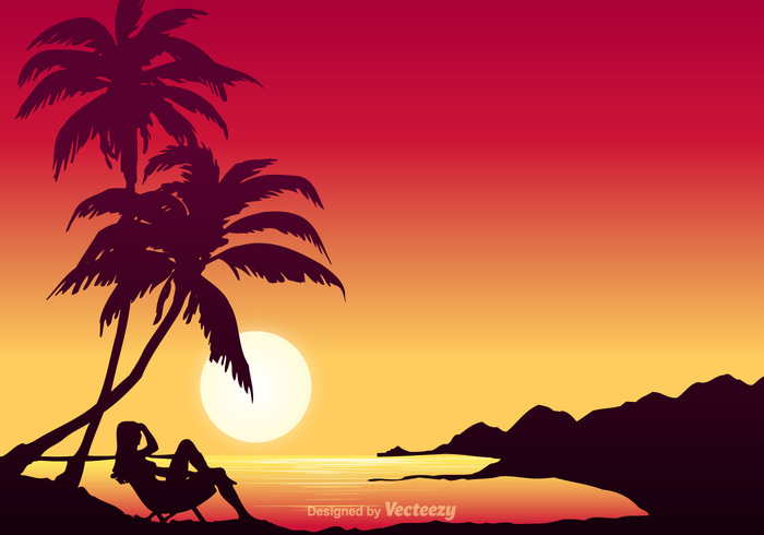 water warm vector tropical tree travel Tahiti sunset sunny summer stylized splash sky silhouette seascape seagull sea sand resting resort Relaxation red Polynesian perfect paradise palm ocean nature mountain island illustration holiday hawaiian background Hawaiian hawaii girl floral exotic empty down Coastline bungalow beautiful beach background