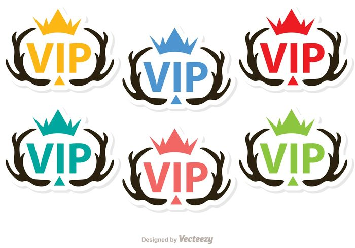 vip icon vip Very important person success sign rich Membership member medal luxury label important glamour glamorous exclusive crown celebrity casino approval antlers