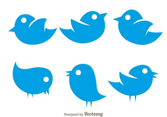 vector simple twiter bird icons 130483 welovesolo rh welovesolo com simple vector labs simple vector exercise c++