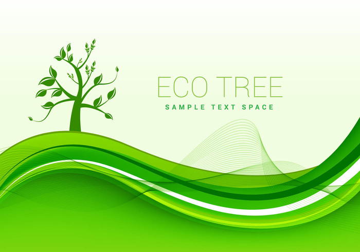 Eco Green Background Vector 107463