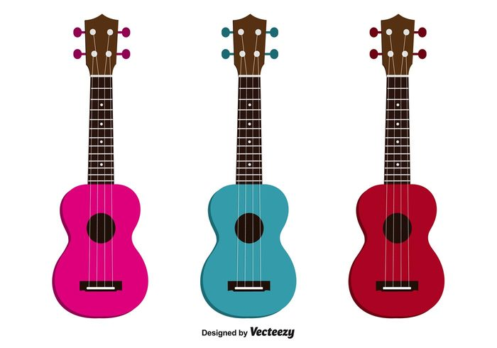 vintage ukulele set ukulele symbol strings sound small guitar small sketch red play music play musician musical music instrument music instrument icon hole hawaii guitar graphic Design Elements design cute colorful blue band