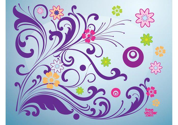 victorian swirl rococo retro line leaf flower flourish floral fancy element decorative decoration curve curl corner classical